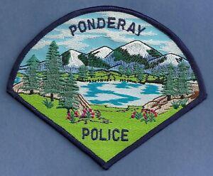 PONDERAY IDAHO POLICE SHOULDER PATCH