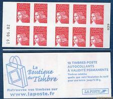 Carnet - 3419 C6 - 19.06.02 Bas -Type Marianne du 14 Juillet RF - TVP rouge N° 3
