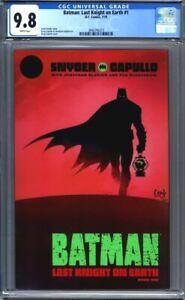 Batman: Last Knight on Earth #1  Greg Capullo Cover  DC Comics 1st Print CGC 9.8