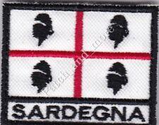Toppa termoadesiva ricamo Bandiera Sventolante 4 mori Sardegna Souvenir 7x8 cm