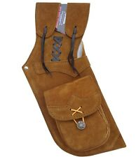 NEW TRADITIONAL ARCHERY CAMEL SUEDE LEATHER SIDE/HIP ARROW QUIVER AQ-211 RIGHT
