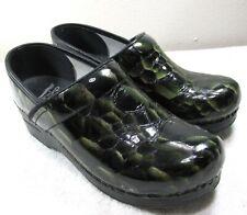 Dansko Leather Clogs 37 Faux Reptile Croc/Alligator Snake Scale Nurse Htf Sz 6.5
