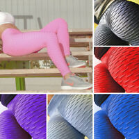 Women Scrunch Push Up Leggings Yoga Pants Sports Anti Cellulite Running Trousers