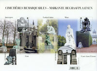 Belgium Architecture Stamps 2020 MNH Striking Cemeteries 5v M/S SMALL CREASE
