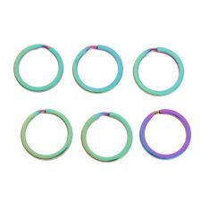 6pcs Split Key Rings 25mm Colorful Keyring Hoop Loop Ring Findings