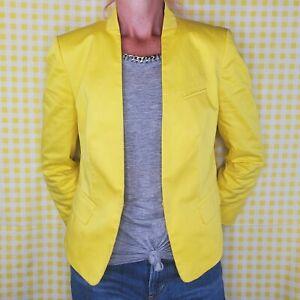 NWOT Ann Taylor Women's 🍋 Lemondrop 🍋 Yellow Blazer Jacket Fully Lined Small