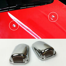 FIT FOR Ford Kuga Escape 2013- windscreen washer cover spray nozzle CHROME TRIM