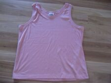 LADIES SIMPLE PINK POLYCOTTON SLEEVELESS SINGLET TOP BY SUPRE - SIZE 18/20 CHEAP
