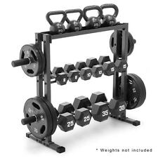 Marcy Combo Weights Storage Rack DBR-0117 Tier Horizontal Gym Fitness Equipment
