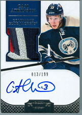 2011-12 DOMINION # 139 CAM ATKINSON RC ROOKIE AUTO JERSEY # 13/199 BLUE JACKETS