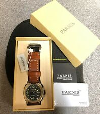 Parnis Military Sapphire Automatic GMT Power Reserve Men's Watch, USA Seller