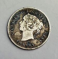 1888 Canada 5c Five Cents (good grade but needs cleaning) Silver Coin A352