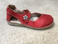 Josef Seibel Red Leather Sandals Womens 7.5