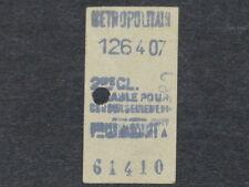 [COLLECTIONS] TICKET de METRO ANCIEN - CLIGNANCOURT - 2e Classe Billet Railway