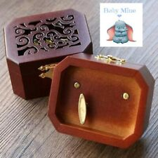 WOODEN OCTAGON CARVING MUSIC BOX : ♫  BABY MINE  ♫