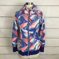Ivivva By Lululemon Multicolor Remix Scuba Hoodie Zip Up Jacket Size 12 / 14 Y