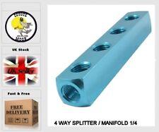 4 WAY SPLITTER / MANIFOLD 1/4 pneumatic, compressor, Air line UK SELLER