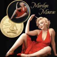 WR 24K Gold US Star Marilyn Monroe Colored Coin Collectible Gifts For Fan