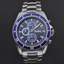 Michael Kors MK8354 Herrenuhr Chronograph Edelstahl Farbe: Silber / Blau