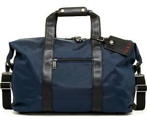 Tumi Alpha Ballistic Nylon Small Soft Travel Satchel Duffel Luggage Bag in Navy