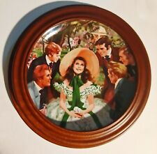 Gone With The Wind Gwtw Framed Plate Sarlett and her Suitors