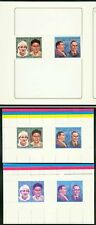 Libya 1984 Musicians strip of four MASTER PROOFS (x3)
