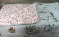 Raymond Waites Home & Design Paradise Tropical Queen Reversible Cotton Coverlet