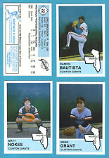 1983 Fritsch Midwest League Team Set Clinton Giants