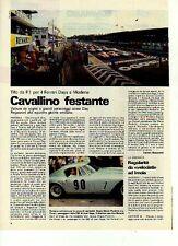 W34 Ritaglio Clipping 1983 Ferrari Days Clay Regazzoni intervista