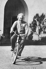 Albert Einstein Bike Poster! Black and White Free Spirit Relativity Classic New!