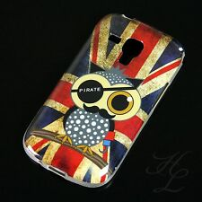 Samsung Galaxy S Duos s7562 Silicone Case Protective Cover Bumper pirate UK Owl Design