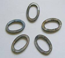 5 Oval Open Shell Beads - Grey - 30mm