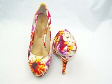 Size 5 multi coloured platform, stiletto heel court shoes from Moda In Pelle