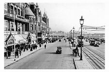 pt4480 - Blackpool Promenade with The Palace on Left , Lancashire - photo 6x4