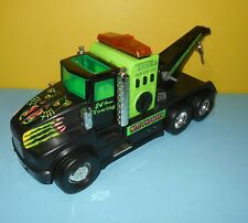 Older 1992 Tonka Nite Prowler Electronic Tow Truck Neon Green & Black Metal