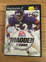 EA SPORTS NFL MADDEN 2005 - PS2 - COMPLETE WITH MANUAL - FREE S/H - (SS)