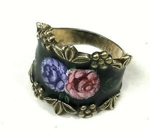 Vargas Sterling Enamel Ring