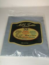 M.C.G. Textiles 32 Count Linen Cross Stitch Fabric 20 in x 27 in You Choose