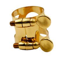 Professional Tenor Saxophone Mouthpiece Ligature Sax Clip Golden 25x29x33mm