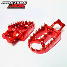 APICO XTREME WIDE MOTOCROSS FOOTPEGS FOOTRESTS RED - HONDA CR250 02-07