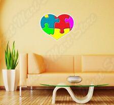"""Puzzle Heart Love Peace Wall Sticker Room Interior Decor 22""""X22"""""""