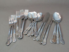 Stainless Steel Flatware Service for 4 made in Korea USED 24 pieces