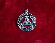 925 Sterling Silver Celtic knot & Triskelion Pendant