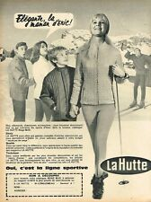 J- Publicité Advertising 1966 Les Vetements de sports ski magasins La Hutte