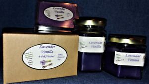 *NEW* Hand Poured Calming Scented Soy Candles Tarts & Votives - Lavender Vanilla