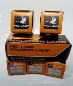LOT/6 NEW JC G4 24V - 20W HALOGEN LAMP Made in Japan