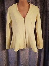 Ladies River Island Yellow Peplum Jacket Size 10