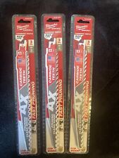 """(3) Milwaukee (3 PK) 48-00-5332 The Ax 9"""" Pruning Saw Blade 3 TPI (NEW) 2 PACK"""