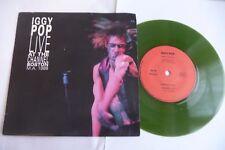 "IGGY POP LIVE AT THE CHANNEL BOSTON 45T COLORE VERT. KILL CITY / COLD METAL. 7"""
