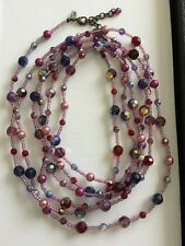 "JOAN RIVERS Multi Colored Swarovski Crystal Glass Extra Long Necklace 100"" N Box"